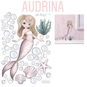 A4- AUDRINA the Mermaid WALL DECALS