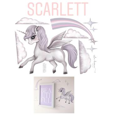 A4- SCARLETT the Pegasus WALL DECALS