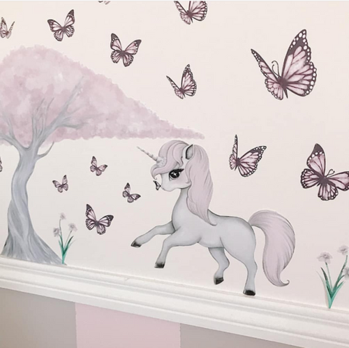A3-ROSE & cherry blossom tree WALL DECALS