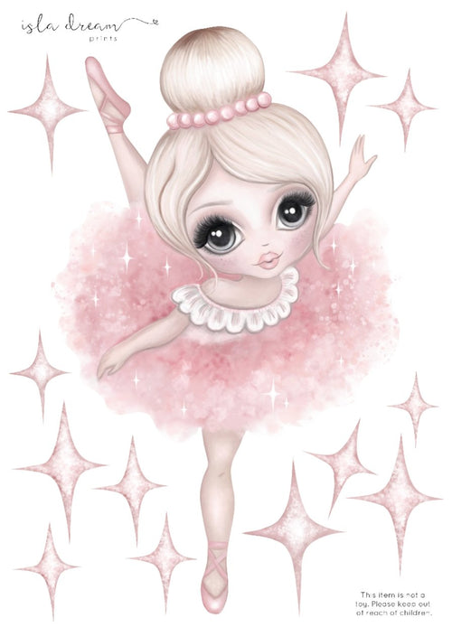 Bella the Ballerina Fabric Wall Decals
