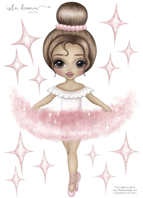 Ariana the Ballerina Fabric Wall Decals