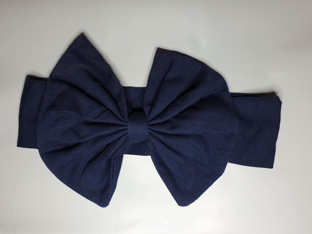 Navy Bow Headband