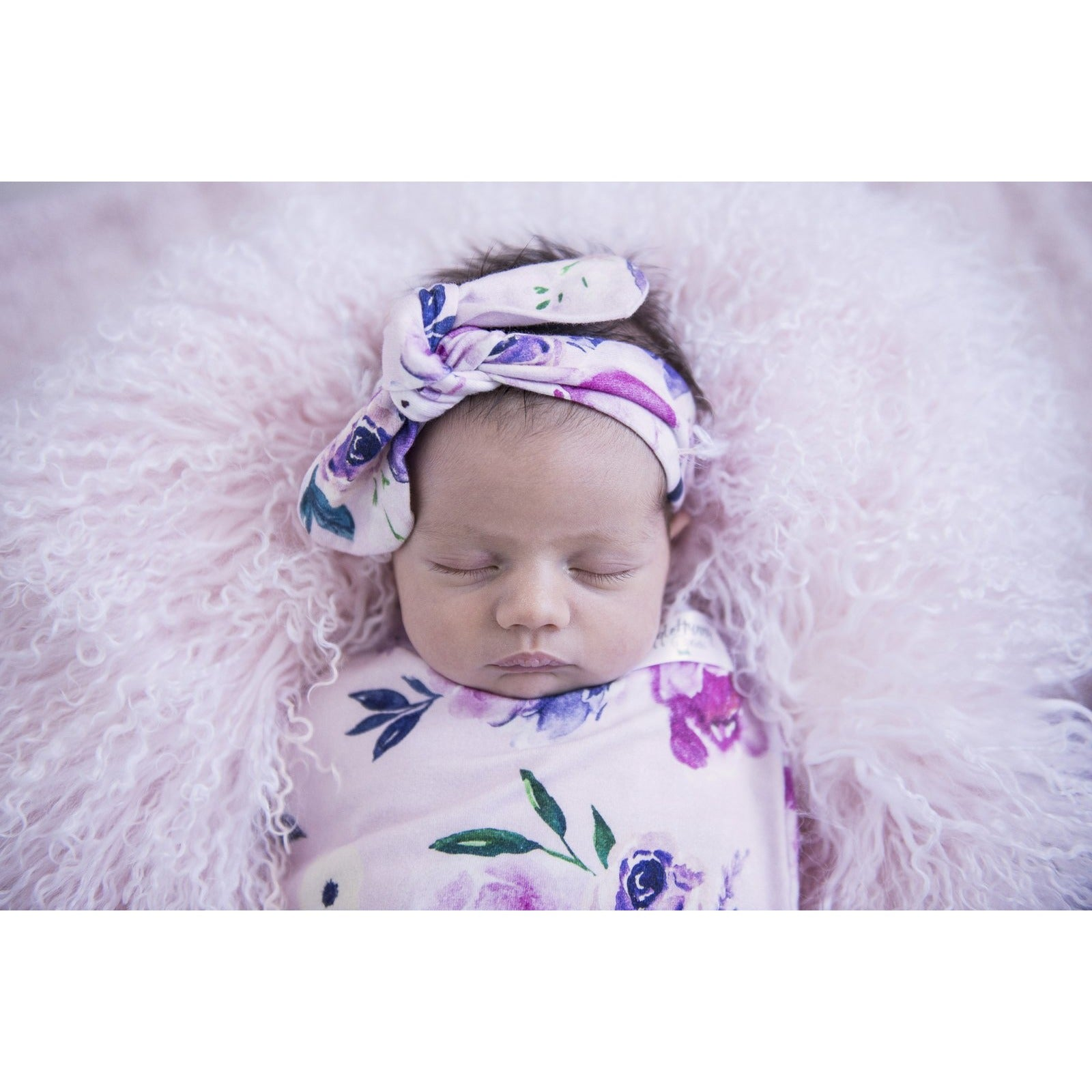 Floral Kiss I Snuggle Swaddle & Topknot Set