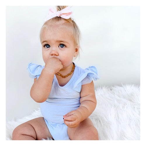 Powder Blue Flutter Romper