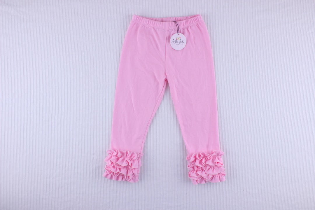 Signature Pink Ruffle Leggings