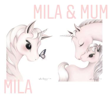 Mila and Mum Unicorn Print