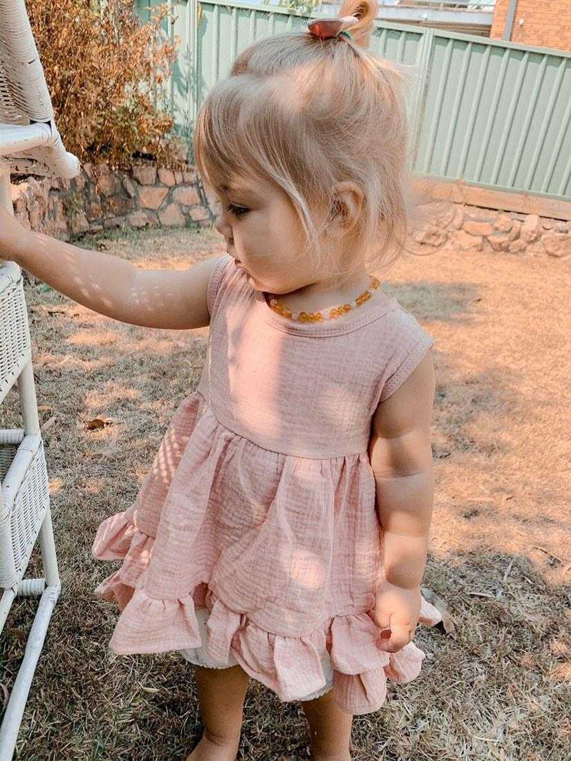 Dusty Peach Hi Low Tunic
