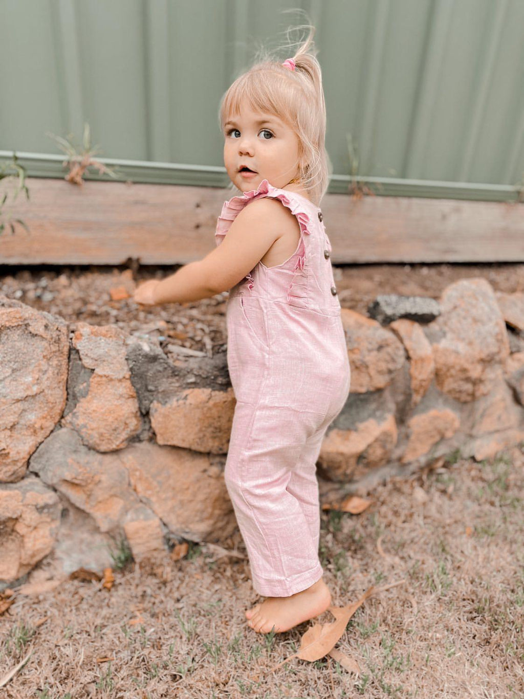 Ruffle Jumpsuit | Rose Blush