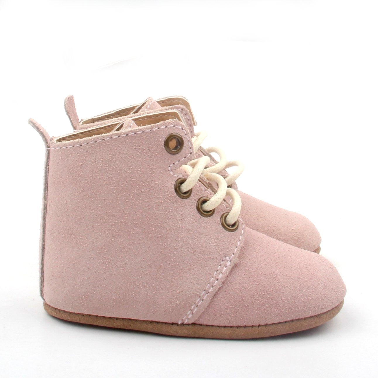 Wynter Dusty Pink Suede Boots
