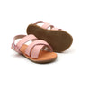 Leather Zulu Sandals - Blush Pink