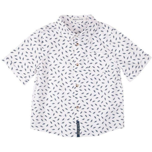 AXL FEATHER PRINT SHIRT - WHITE