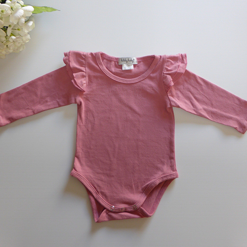 Flutter Romper / Top L/S - Dusty Rose