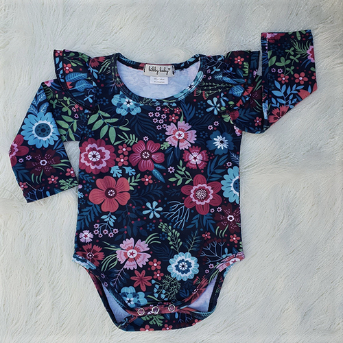 Flutter Romper / Top L/S - Midnight Garden