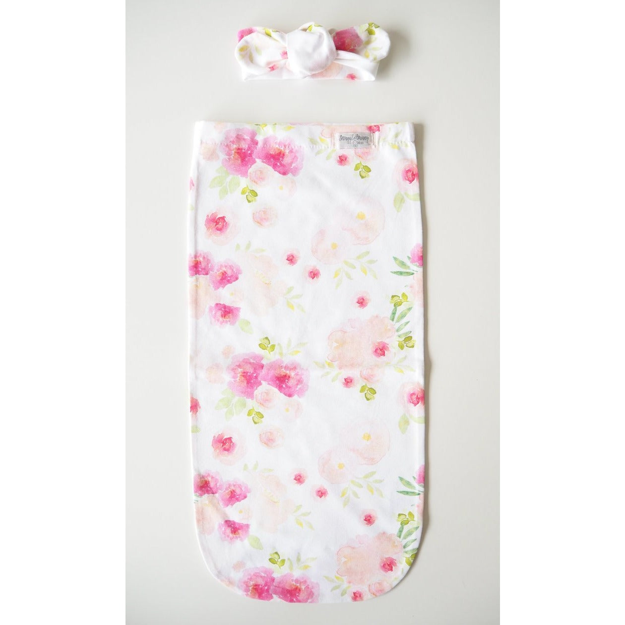 Hunny Blossom I Snuggle Swaddle with matching Topknot