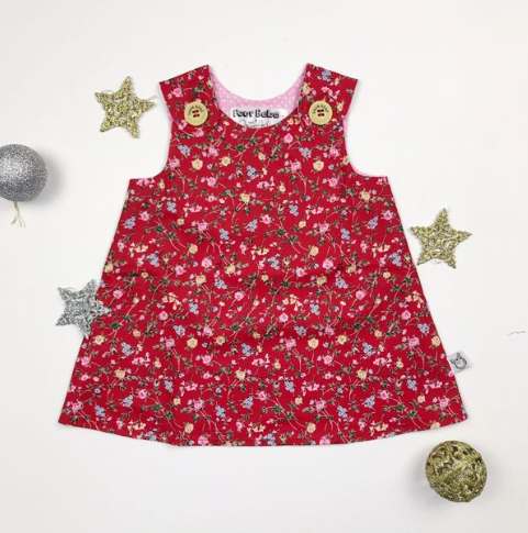 Pinafore RED VINES - small sizing
