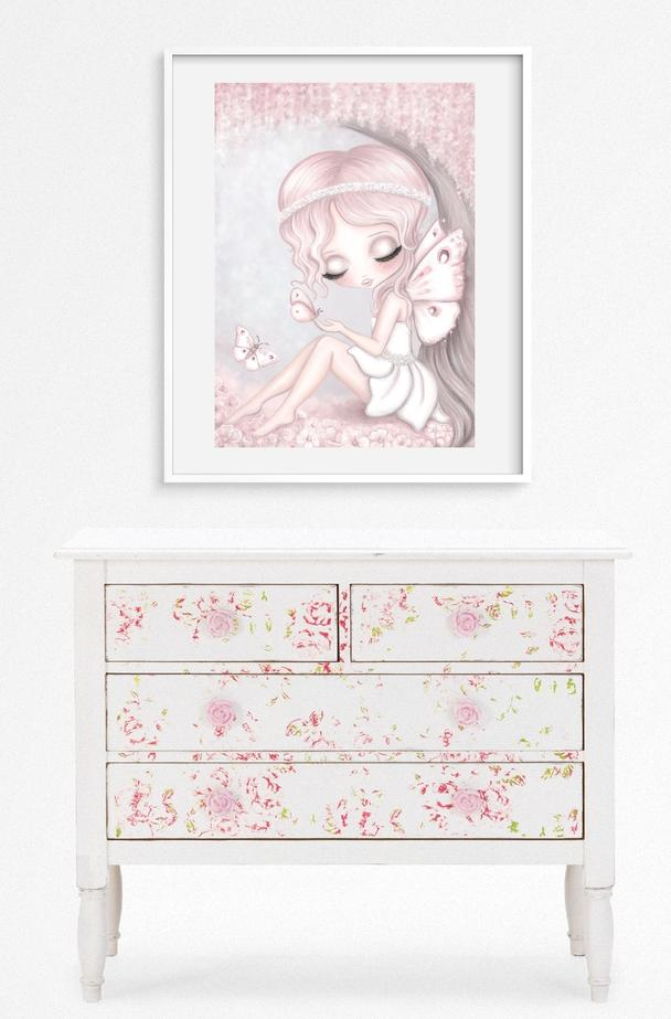 Grace the butterfly fairy print -full background