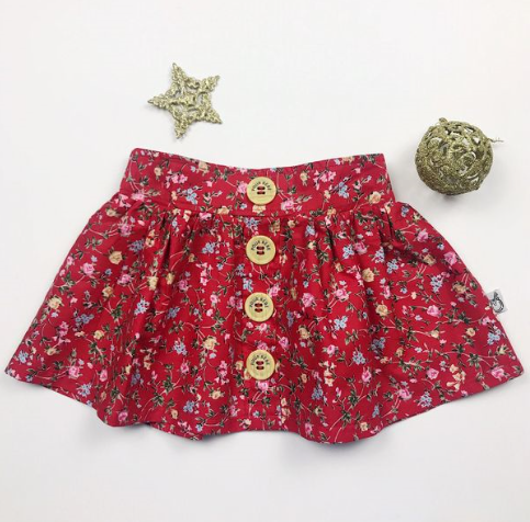Handmade Samantha Skirt - RED VINES