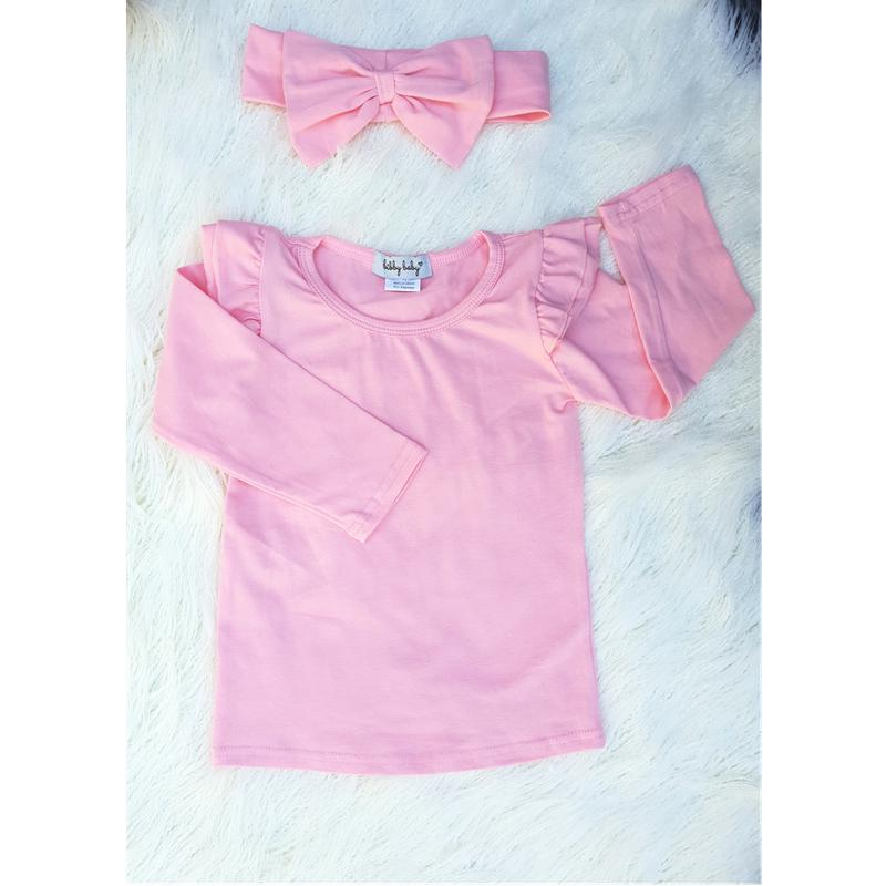 Flutter Top L/S - Light Pink