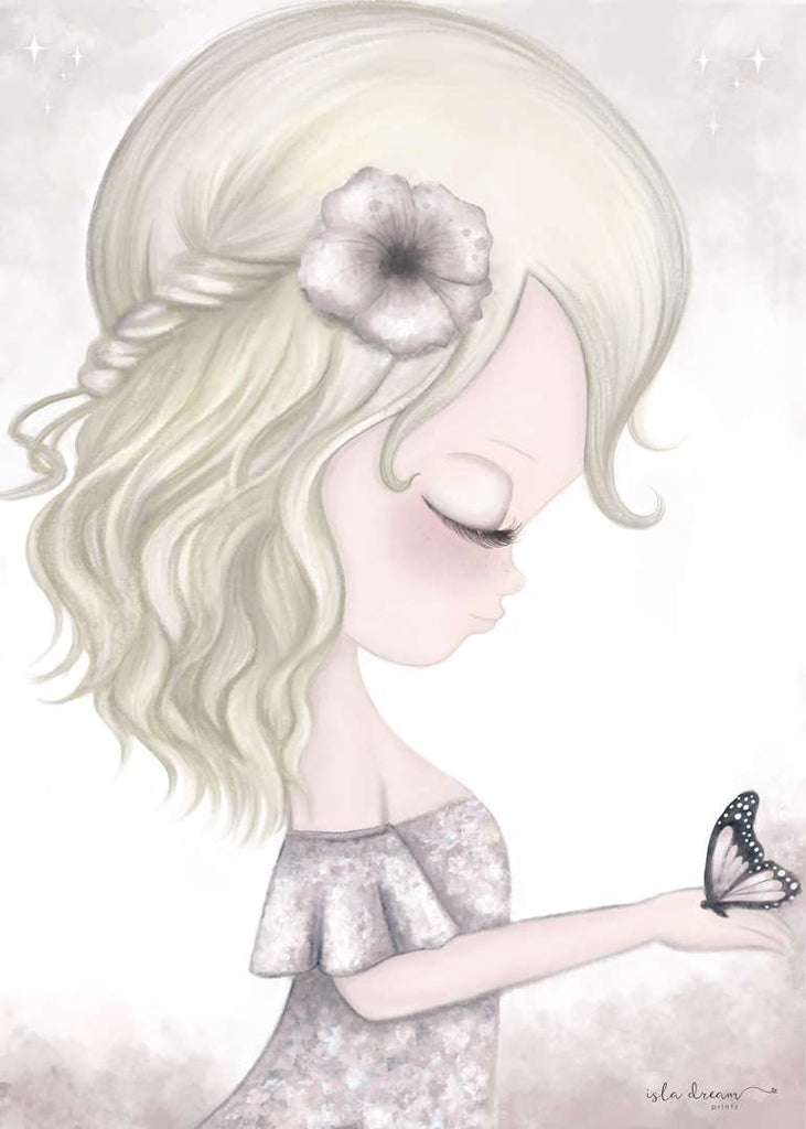 AVA and butterfly Print