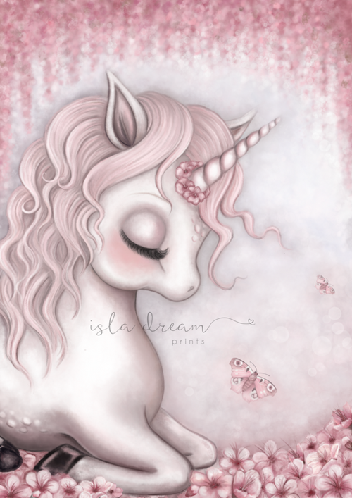 Aubrey the unicorn print