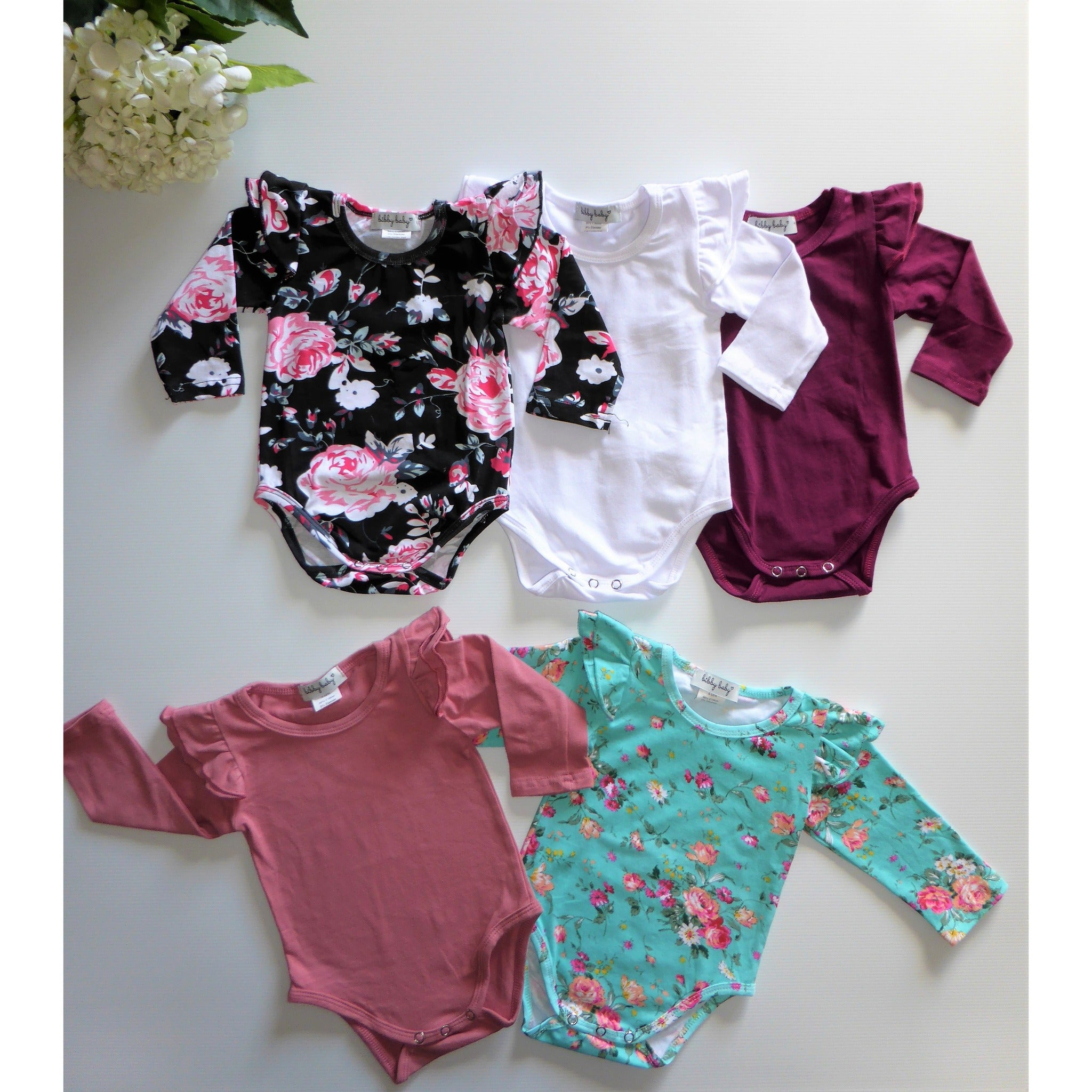 Flutter Romper / Top L/S - Wine