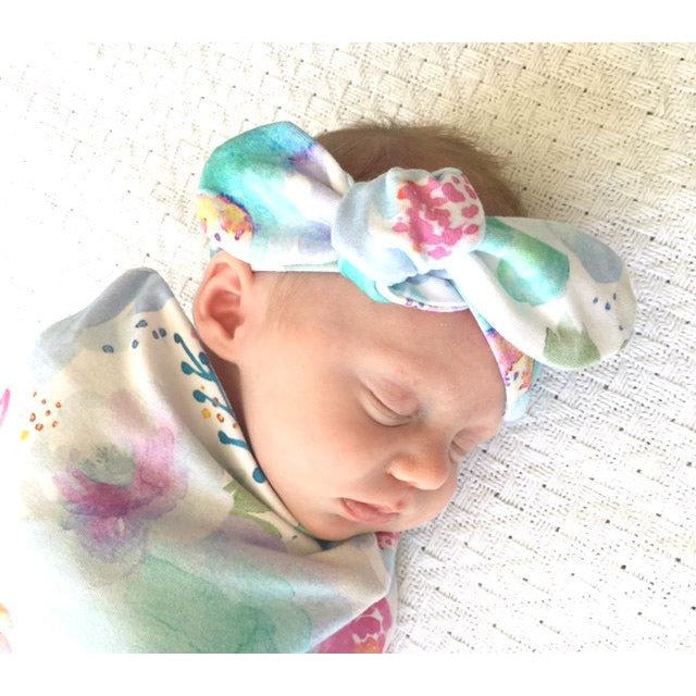 Sweet Petal Top Knot Headband