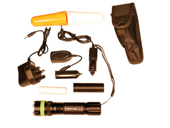 Flashlight UTX-5 for Work, Camping, Fishing, Climbing, Surviving and Hobby