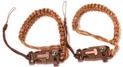 Roger Sthal Wrist Strap – camo paracord with survival buckle, detachable, 2 pack