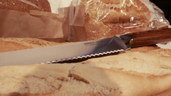 Bread Knife, Cake Knife, Stainless Steel, Ultra Durable (Pakka) Hard Wood Handle