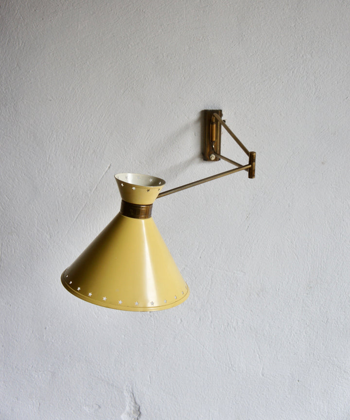 1950'S WALL LAMP BY RENE MATHIEU FOR LUNEL