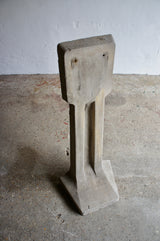 BRUTALIST CONCRETE SALVAGED SCULPTURE
