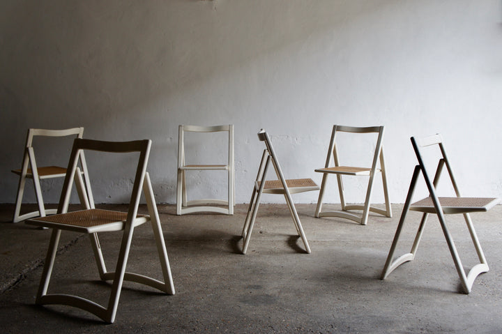 WHITE CANE FOLDING CHAIRS