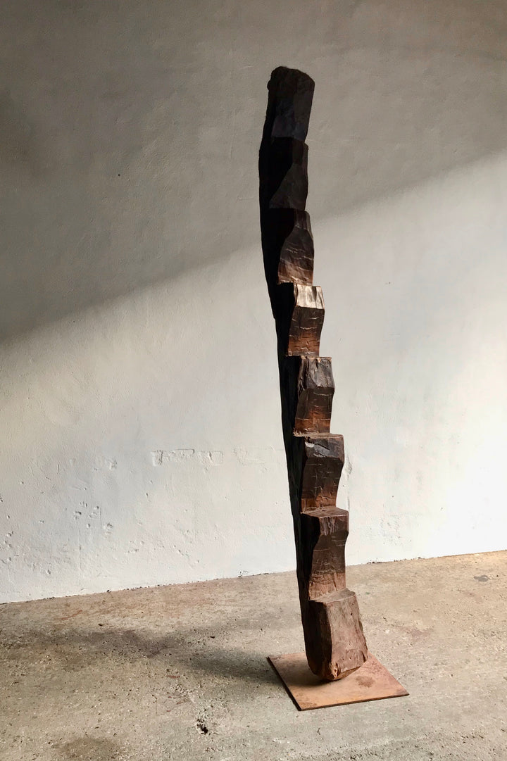 NEPALESE CARVED WOOD LADDER