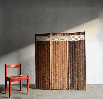 WICKER SCREEN ROOM DIVIDER