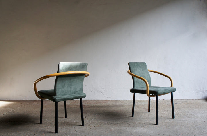 POST MODERN MANDARIN CHAIRS BY ETTORE SOTTSASS FOR KNOLL