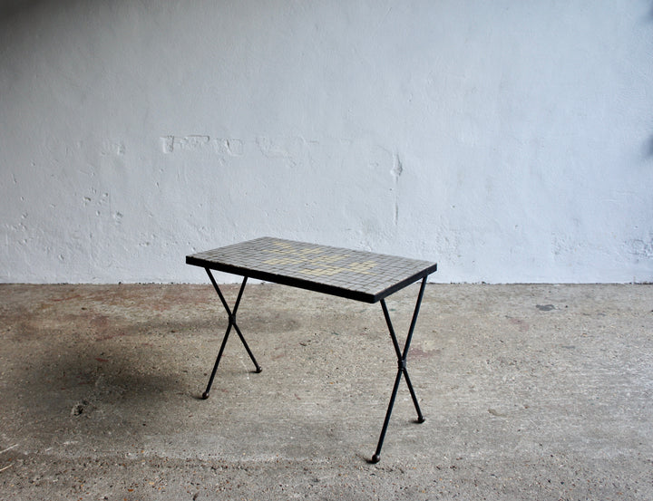 MIDCENTURY FRENCH MOSAIC SIDE TABLE