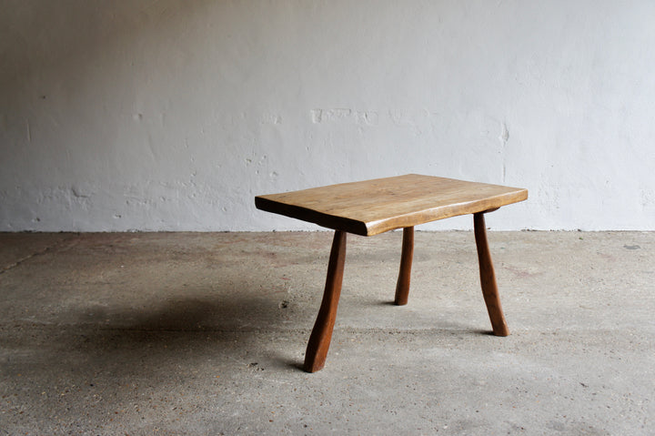 BRUTALIST 3 LEGGED COFFEE TABLE