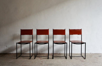 ALIAS 101 LEATHER SPAGHETTI CHAIRS BY G. BELOTTI