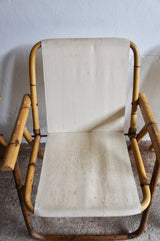 MIDCENTURY BAMBOO FOLDING CHAIRS