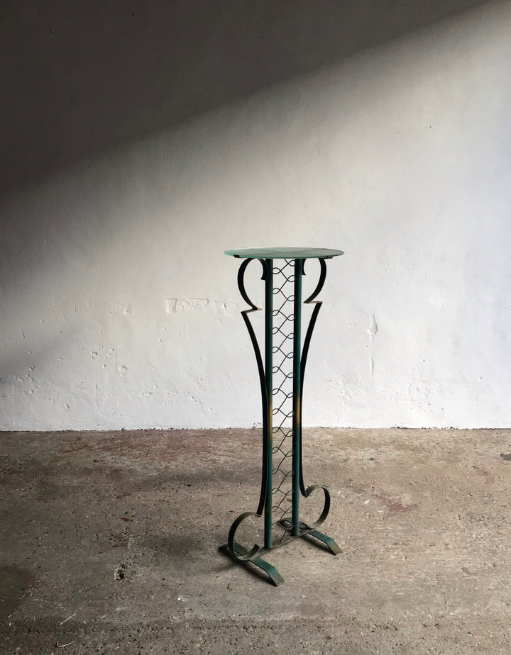 TALL ART DECO SIDE TABLE