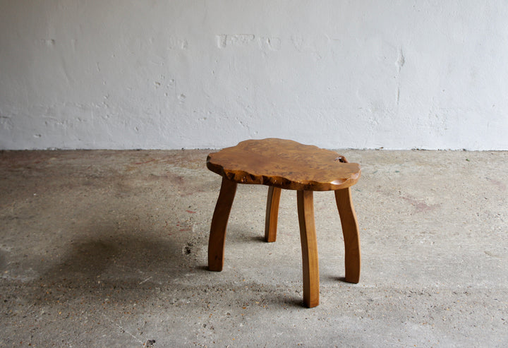 BURR WOOD SIDE TABLE