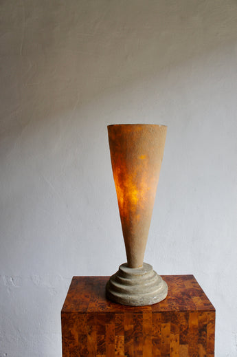 POSTMODERN PLASTER AND FIBREGLASS LAMP