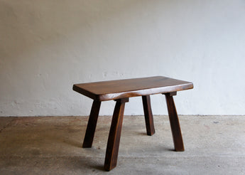 BRUTALIST ELM DINING TABLE