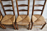 SET OF 6 ALPINE PERRIAND STYLE RUSH CHAIRS