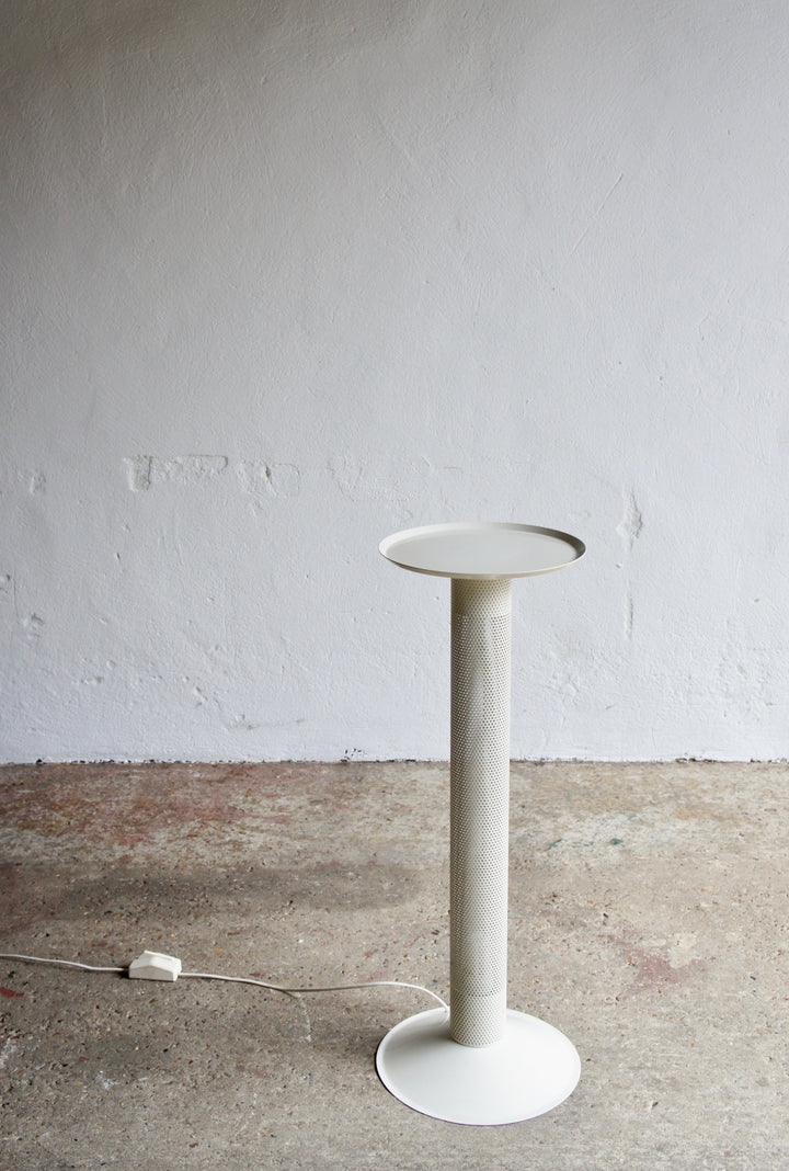 1980'S POSTMODERN METAL PLINTH LAMP