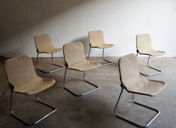 1960'S CONRAN CANVAS SLING CHAIRS