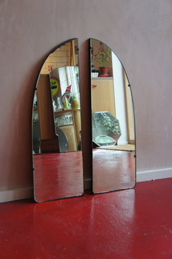 ART DECO ARCHED FRAMELESS MIRRORS
