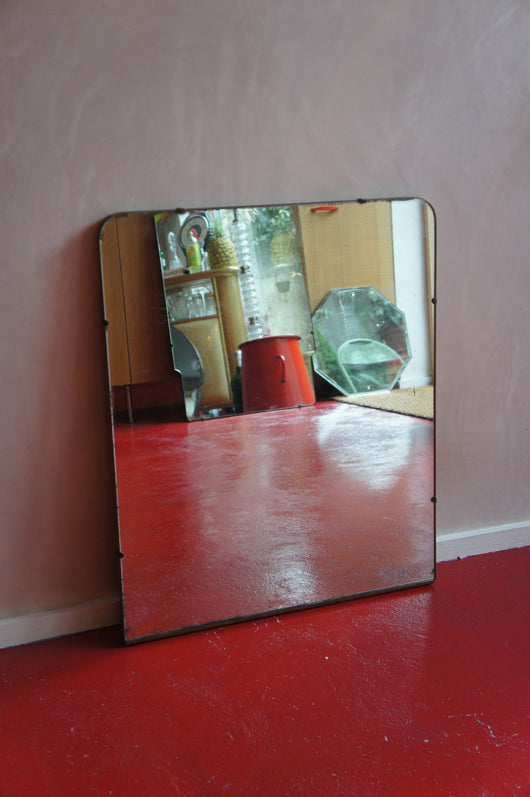 ART DECO FRAMELESS MIRROR