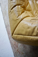 1980'S LIGNE ROSET LEATHER TOGO SOFA BY MICHEL DUCAROY