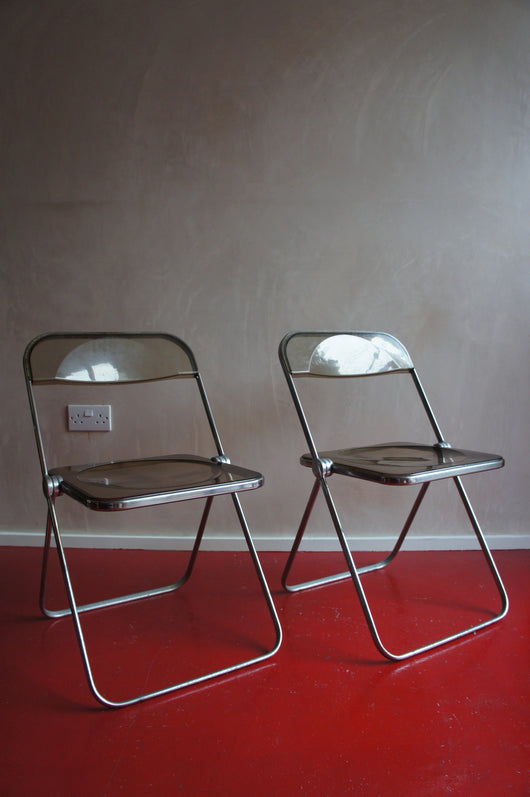 2 X 1970'S LUCITE PLIA FOLDING CHAIRS